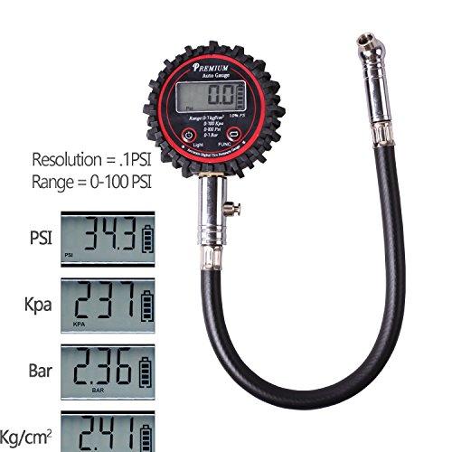 Timorn-Digital-Manometro-pneumatico-Manometro-pneumatico-ad-alta-pressione-di-pressione-grande-Display-LCD-con-tubo-flessibile-per-auto-camion-e-moto