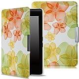 MoKo Kindle Paperwhite Case - Ultra Sottile Leggero Supporto Custodia per Amazon Nuovo Kindle Paperwhite (Adatto Tutte le versioni: 2012, 2013, 2014 e 2015 Nuovo 300 ppi), Floreale VERDE - MoKo - amazon.it