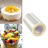 Acetato Foglio da forno Cioccolato Mousse Trasparente Rotolo, 10cm x 10m 125 micron, Stampi per torte, pasticceria, dolci e alimenti