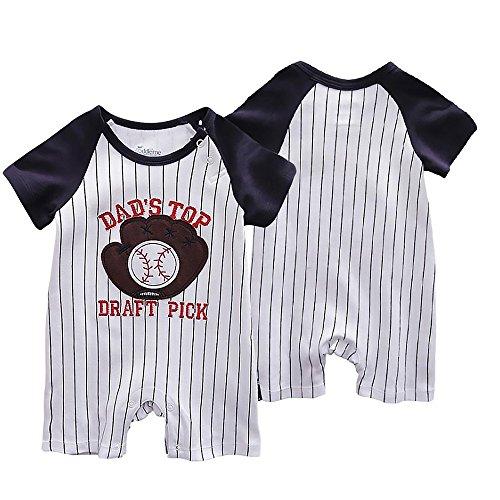 Naisidier Baby Strampler Kleidung Neugeborenen Kinder Overall [80CM] Kleinkinder Jungen Mädchen Sommer Baby Strampler Kleidung Set Baseball-Handschuhe Babykleidung -