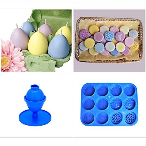 Proops S7837 Kerzenformen, Osterfrühlings-Wachs, Schmelzform, Kerzen-Brenner und Ei-Form Hochwertiges Produkt.