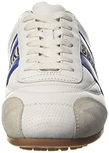 Bikkembergs Soccer 106, Basses Mixte Adulte Bianco (White/Navy Blue)