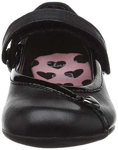 Clarks Kids Dolly Babe Inf Mädchen Sneakers Schwarz (Black Leather)