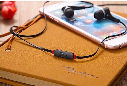 Écouteurs intra-auriculaires anti-bruit Noir Sport Casque écouteurs Mains libres écouteurs intra-auriculaires 3,5mm W/appel mains libres Mic. Compatible avec