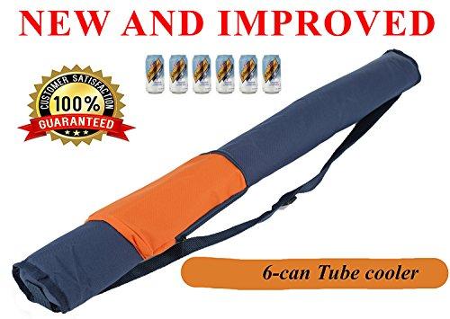 mnm-home einfach Carry Isolierte können 6Tube/Ärmel Kühler,/mit Schultergurt. Orange