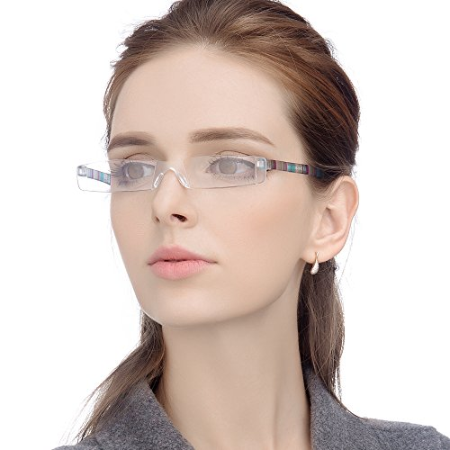 LianSan Marke Leichtes Notebook Streifen Unisex Männer Frauen lesebrille Leser Brillen L3220 +1.50 Mehrfarbig
