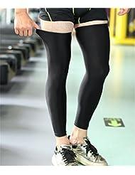 BUSL attelle de genou de sport de basket-ball étendu prolongé leggings veau de soins infirmiers respirant sport hommes et de longues sections de remise en forme (une paire installé)