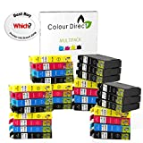 30 XL Colour Direct Compatible Cartouches d'encre compatibles Remplacement Pour Epson WorkForce WF2010W WF2510WF WF2520NF WF2530WF WF2540WF WF-2630WF WF-2660DWF Imprimantes 12 Noir 6 Cyan 6 Magenta 6 Jaune