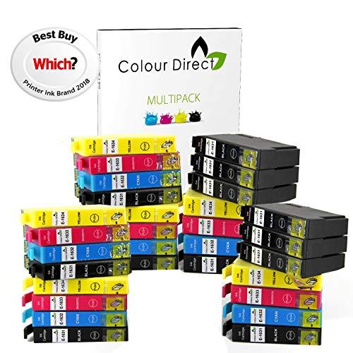 30 XL Colour Direct Cartucce di inchiostro compatibili Sostituzione Per Epson Work Sostituzione Per ce WF2010W WF2510WF WF2520NF WF2530WF WF2540WF WF-2630WF WF-2660DWF Stampanti 12 Nero 6 Ciano 6 Magenta 6 Giallo