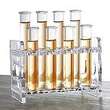 FashionA-Z Shooters Gläser, 12 Set Shot Reagenzglas und Base,Reagenzglasaufnahme Schnapsgläser Glas, Höhe 12 cm,Kapazität 28 ml, Bar Schnapsgläser (12cm)