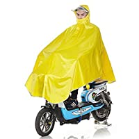 Cuzit Durable Oxford fabric Scooter Rain Poncho Cycle Rain Cape For Outdoor Sports Camping,Hiking,Fishing,Cycling-XXXXL Yellow