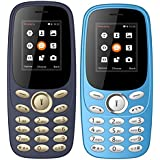 IKALL Feature Phone Combo (Dark Blue + Light Blue) - K130 With 1 Year Manufacture Warranty