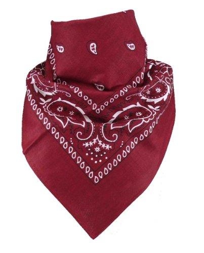 Harrys-Collection Bandana Bindetuch 100% Baumwolle (1 er 6 er oder 12 er Pack), Farbe:weinrot