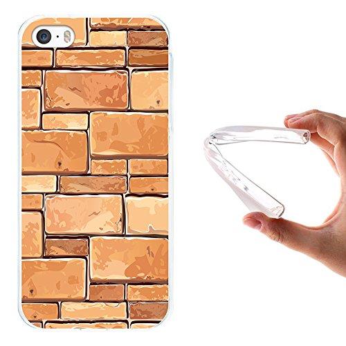 iPhone SE iPhone 5 5S Hülle, WoowCase Handyhülle Silikon für [ iPhone SE iPhone 5 5S ] Holzwand Handytasche Handy Cover Case Schutzhülle Flexible TPU - Transparent Housse Gel iPhone SE iPhone 5 5S Transparent D0058