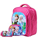 #2: Best shop School Bags combo backpack pink colour for girls