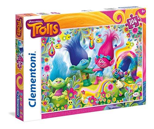 Clementoni Puzzle 104 piezas Cupcakes&Rainbows Trolls
