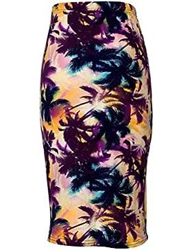 Falda Hawaiana Hojas Faldas Altas De Cintura Falda Mujer Estampada Faldas Tubo De Moda Falda Larga LáPiz Casuales...