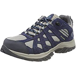Columbia Point Waterproof, Zapatillas de Senderismo para Mujer, Gris (Dove, Canyon Blue 081), 38.5 EU