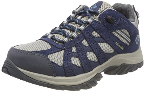 Columbia Point Waterproof, Scarpe da Arrampicata Basse Donna, Grigio (Gris Dove, Canyon Blue 081), 39.5 EU