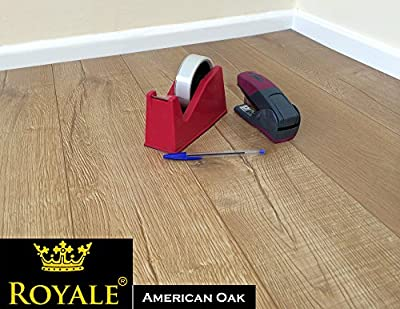 12mm Laminate Wood Flooring Packs - V Groove - AC5 - Embossed Oak - High Quality produced by Royale - quick delivery from UK.