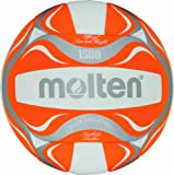 Best Beach Volleyballs - Molten Beach Volleyball - 5, White/Orange/Silver Review