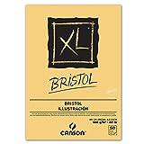 Canson Bloc de dibujo y estudio bloque XL Bristol, Block, DIN A4, 50hojas superior encolado, muy lisa, extra Color Blanco, adecuado para lápiz, tinta, aerógrafo, dibujos y bocetos