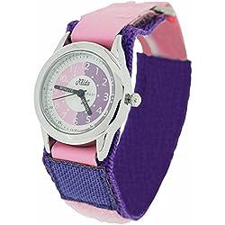 Relda Time Teacher Pink & Purple Velcro Strap Boys Girls Childrens Watch REL16