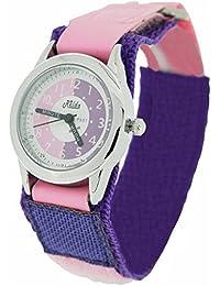 Kids Watch Time Teacher Pink/ Purple Easy Fasten Children Girls To Watch + Award