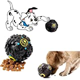 Natural Squeaky Cum IQ Treat Dispenser Chew Ball/Bite Resistant/Training Toy for Dog/Puppy/Cat/Kitten