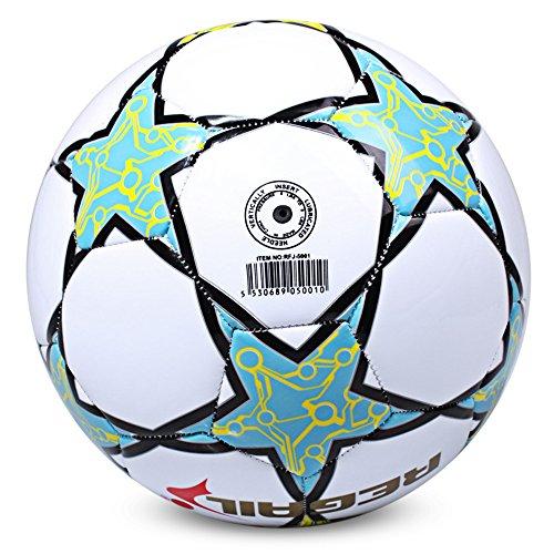 XU-XIAZHI,Größe 5 Fünf-Stern-Fußball für das Schulspiel(Color:Weiss)