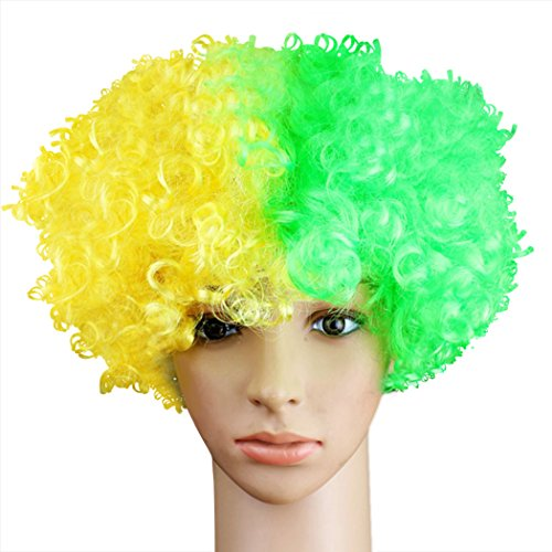 Flagge Perücke, Funpa Party Kostüm Perücke Afro Clown Perücke Lustige Haar Perücke Maskerade Perücke für - Clown Afro Perücke Kostüm