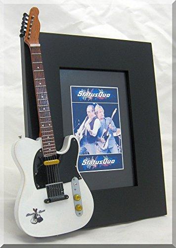 STATUS QUO Miniatur Gitarre Foto Rahmen