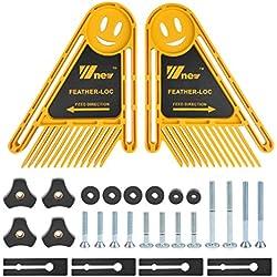QLOUNI 1 Paire Planche Fixation Accessoires pour scies perceuse burineur la sécurisation d une défonceuse sous table