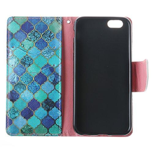 Coque Apple iPhone 6 Plus / 6S Plus PU cuir flip Wallet Etui Case Cover Housse A8