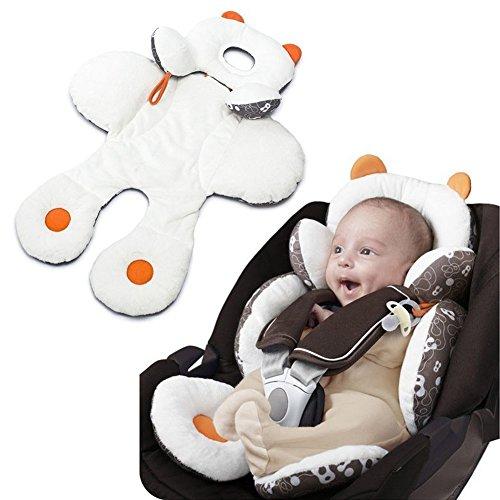 Coussin d'assise Liner Mat Pad Coque bébé Poussette de voiture Chaise haute pour bébé Kid pour tout-petits enfants – Deux côté d'été rafraîchissant et Hiver chaud.