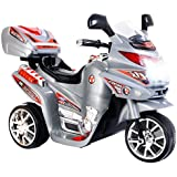 Baybee Samurai Battery Operated Ride On Bike With Music, Horn, Headlights With 25 Kg Weight Capacity - Silver