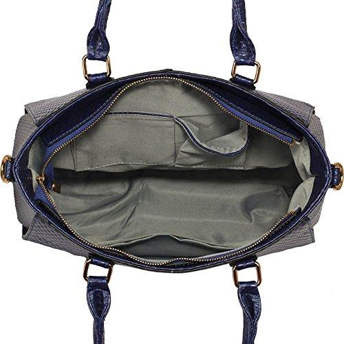Greifer Handtasche (Burgund,groß) Damen Handtaschen Schulter-Frauen-Handtaschen Faux Lederheiß Selling Trendstar Taschen Grab Bag Bow Charme Burgund Handtasche B - Marine