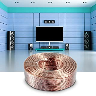 AceFox Speaker Wire 2 x 2,5mm² Pure OFC Loud Speaker Cable (164 Feet)