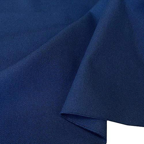 TOLKO Baumwollstoff - Schwerer Canvas Polsterstoff Meterware - Abriebfeste Baumwoll-Qualität zum Nähen (Blau) - Blau Stoff Sitzpolster