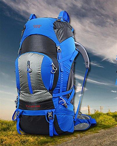 All'aperto arrampicata borsa zaino grande borsa a spalla New Pack 80 l , army green Blue