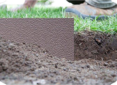 Rasenkante Kunststoff grün Beetumrandung Mähkante Beeteinfassung Rasenbegrenzung Raseneinfassung Beetbegrenzung 6mx15cm