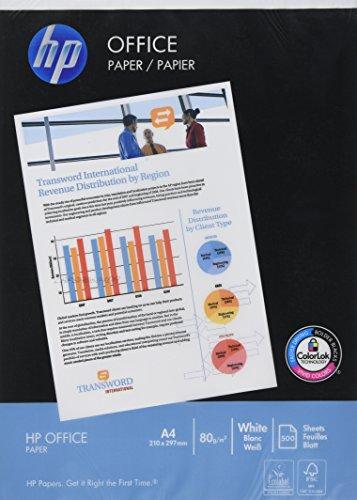 Hewlett Packard - Kopierpapier DIN A4, 80 g/qm, 500 Blatt, hochweiß (Hewlett Packard Hp 500 Blatt)
