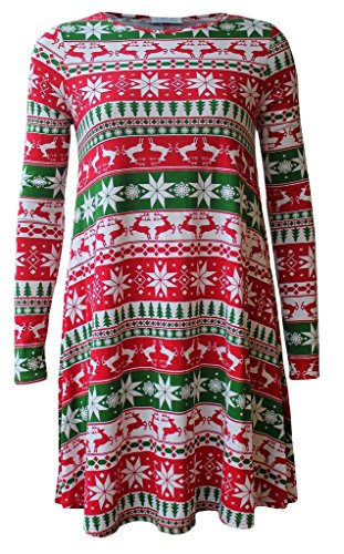 Boutique Damen Skater Kleid Reindeer2