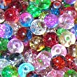 100 Mixed Colour Crackle Glass Round Beads / ZB0070 - 6mm
