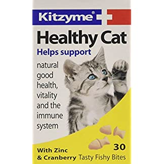 Kitzyme Healthy Cat Tablets with Zinc and Cranberry, 30 Tablets Kitzyme Healthy Cat Tablets with Zinc and Cranberry, 30 Tablets 51EqiqCwPcL
