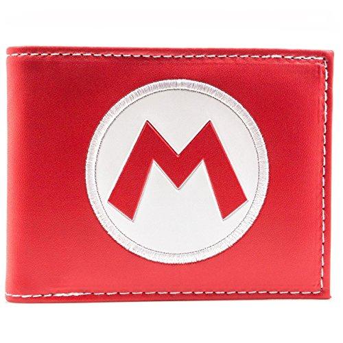 Super Mario Super Mario Cappello Logo Rosso portafoglio