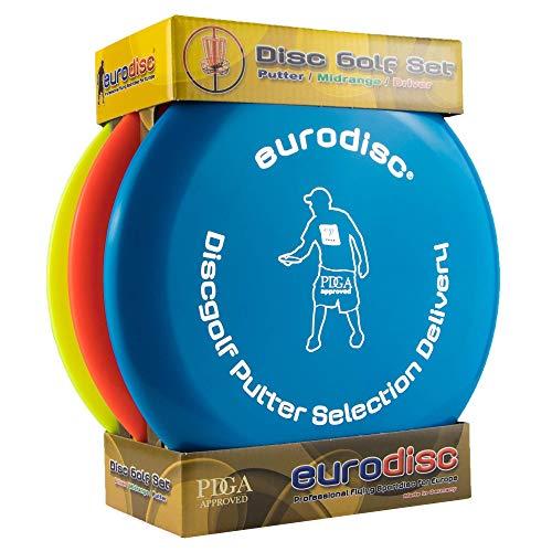 Eurodisc Disc Golf Einsteiger-Starterset Selection Putter Midrange Driver -