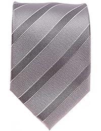 Seidenkrawatte Krawatte grau 8 cm Seide handgenähnt