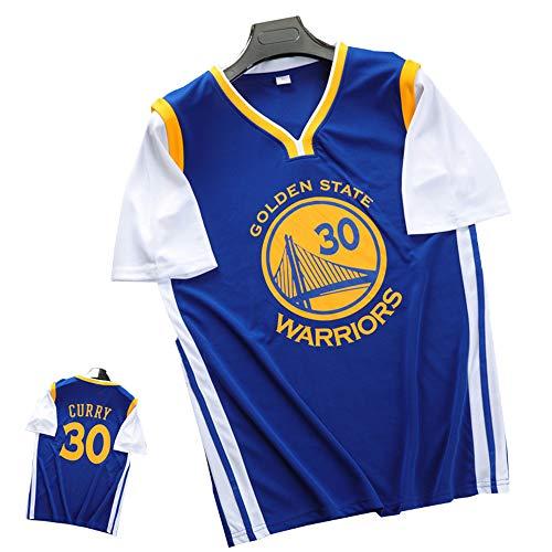 FILWS Basketball-Trikot Stephen Curry Gefälschte Zweiteilige Basketball-Uniform Kurzarm-T-Shirt Für Herren Und Damen Atmungsaktives, Schnell Trocknendes Gewebe Fans Sporttrikot Sommer Jugend-Trainings