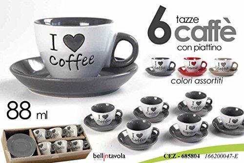 Espresso Set Porta tea set display fp-418,bianco HZcoffee acciaio inossidabile supporto porta tazza per 6 Caff/è Tazza Piattino cucchiaio Set